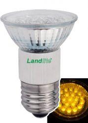 LANDLITE LED-JDR/21 E27 230V 1.5W LED izzó, sárga