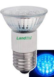 LANDLITE LED-JDR/21 E27 230V 1.5W LED izzó, kék