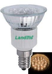 LANDLITE LED-JDR/21 E14 230V 1.5W LED izzó, melegfehér