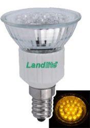 LANDLITE LED-JDR/21 E14 230V 1.5W LED izzó, sárga
