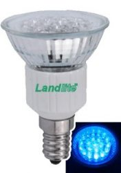 LANDLITE LED-JDR/21 E14 230V 1.5W LED izzó, kék