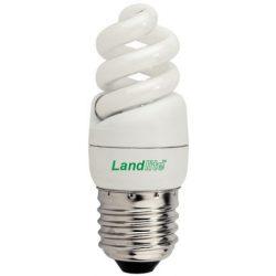 LANDLITE Energiatakarékos, E27, 5W, 240lm, 2700K, spirál formájú fényforrás (ELH/M-5W)