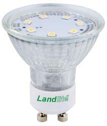 LANDLITE LED-GU10-4W/SMD melegfehér(2800K), LED izzó