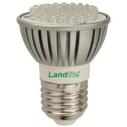 LANDLITE LED, E27, 4W, 320lm, melegfehér, spot formájú fényforrás  (LED-JDR/60)