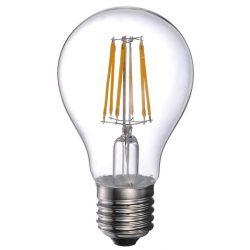 LANDLITE LED filament, E27, 8W, A60, 800lm, 2700K, körte formájú fényforrás (LED-A60-8W/FLT)