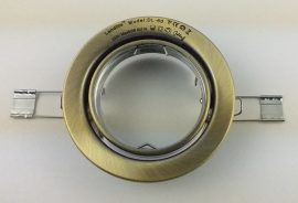 LANDLITE DL-60, 1x max 50W GU10, forgatható kivitel, egyes beépíthető lámpa, antik bronz