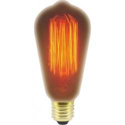 LANDLITE Hagyományos, E27, 60W, 230lm, 2100K, dekor fényforrás (RUB-ST64-60W/19A)