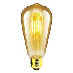 LANDLITE LED filament, E27, 4W, 300lm, 1700K, dekor fényforrás (RUB-ST64-4W/FLT)