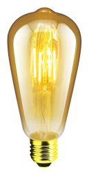 LANDLITE RUB-ST64-4W/FLT E27, 1700K , dekoratív LED izzó