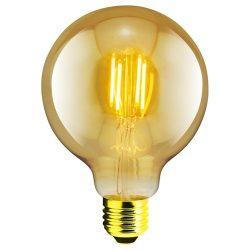 LANDLITE LED filament, E27, 4W, G95, 300lm, 1700K, dekor fényforrás (RUB-G95-4W/FLT)