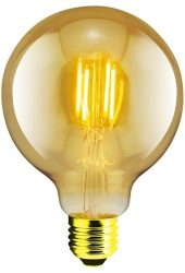 LANDLITE RUB-G95-4W/FLT E27, 1700K , dekoratív LED izzó