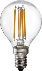 LANDLITE LED-G45-4W/FLT E14, 2700K, filament retro LED izzó