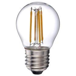LANDLITE LED filament, E27, 4W, G45, 400lm, 2700K, kisgömb formájú fényforrás (LED-G45-4W/FLT)
