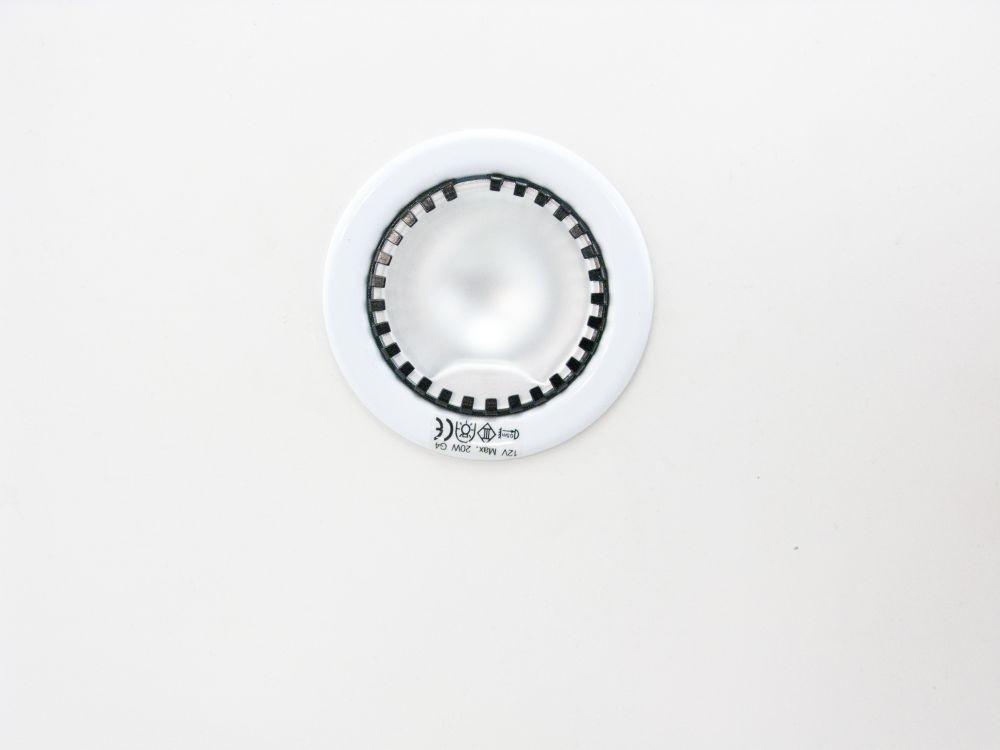 landlite dl 08 1xjc max 20w 12v g4 halogen leuchte fixiert einzeln einbaubare lampe weiss. Black Bedroom Furniture Sets. Home Design Ideas
