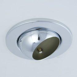 LANDLITE Egyes keret, E14-R50, billenő, egyenes, matt króm, max. 40W, spot keret (DL-710)