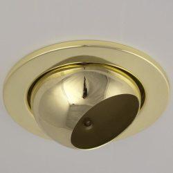 LANDLITE DL-720, 1X230V R63 E27 max 60W, billenthető, egyes beépíthető lámpa, arany
