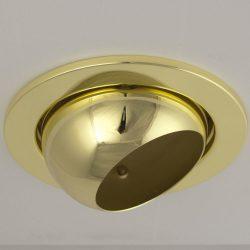 LANDLITE Egyes keret, E27-R80, billenő, egyenes, arany, max. 100W, spot keret (DL-730)