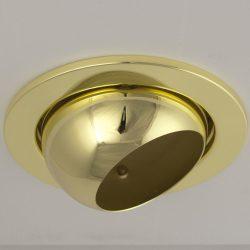 LANDLITE DL-730, 1X230V R80 E27 max 100W, billenthető, egyes beépíthető lámpa, arany