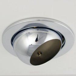 LANDLITE DL-730, 1X230V R80 E27 max 100W, billenthető, egyes beépíthető lámpa, króm