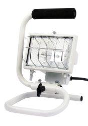 LANDLITE FLP-150, 1X150W 78mm R7s halogén reflektor / fényvető, hordozható, fehér