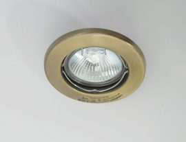 LANDLITE KIT-57A-3, 3db MR16 20W 12V halogén izzó, fix kivitel, beépíthető lámpa szett (3 db-os halogén szett), antikbronz