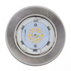 LANDLITE KIT-57A-3, 3db 3W GU10 230V melegfehér LED izzó, fix kivitel, beépíthető lámpa szett (3 db-os LED szett), matt króm