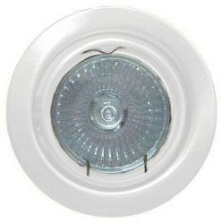 LANDLITE KIT-60A-3, 3db 50W GU10 230V halogén izzó, forgatható kivitel, beépíthető lámpa szett (3 db-os halogén szett), fehér
