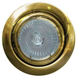 LANDLITE KIT-60A-3, 3db 50W GU10 230V halogén izzó, forgatható kivitel, beépíthető lámpa szett (3 db-os halogén szett), arany