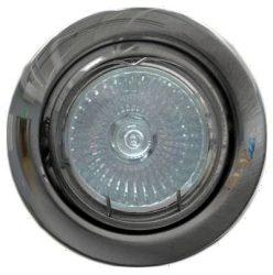 LANDLITE KIT-60A-3, 3db 50W GU10 230V halogén izzó, forgatható kivitel, beépíthető lámpa szett (3 db-os halogén szett), króm