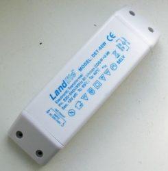 LANDLITE Fényerőszabályozható elektronikus transzformátor, DET-65VA, Max 65VA, terhelés 20-60W, 220-240V~AC/11.6V~AC