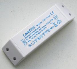 LANDLITE Fényerőszabályozható elektronikus transzformátor, DET-105VA, Max 105VA, terhelés 35-100W, 220-240V~AC/11.6V~AC