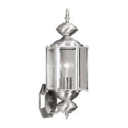 LANDLITE MB302-1  Kültéri fali lámpás, lámpa nikkel színben