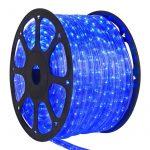 LANDLITE Q-Neon-50M-2R-12V/B, kék, 50 méter, 2 utas vágható fénytömlő, cső forma, 12V-os akkumlátorról működtethető