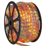 LANDLITE Q-Neon-50M-2R-12V/M, többszínű, 50 méter, 2 utas vágható fénytömlő, cső forma, 12V-os akkumlátorról működtethető