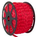 LANDLITE Q-Neon-50M-2R-12V/R, piros, 50 méter, 2 utas vágható fénytömlő, cső forma, 12V-os akkumlátorról működtethető