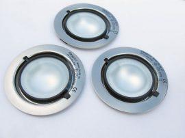 LANDLITE KIT-501-3 (KIT-06-3), 3db JC-20W 12V halogén izzó, fix kivitel, beépíthető lámpa szett (3 db-os halogén szett),matt króm