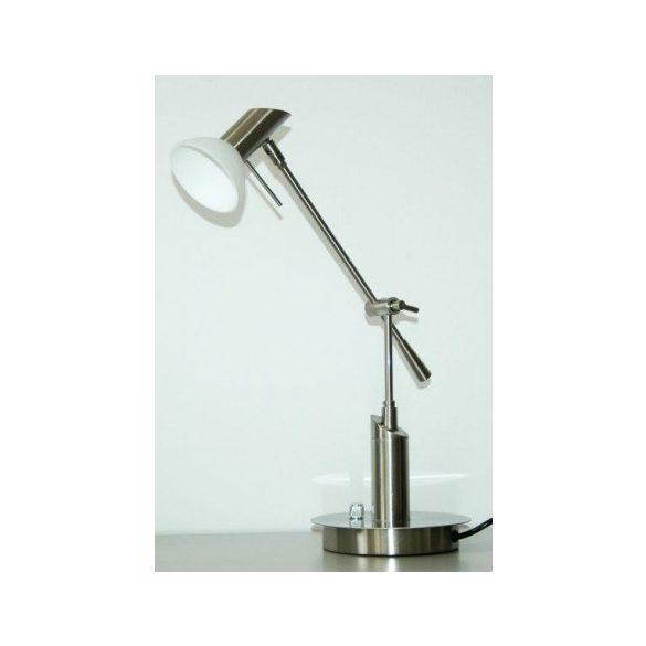 LANDLITE TBT-11-193A asztali lámpa, G9, max. 1x40W, fényszabályozóval, mat króm, pozíció állítható