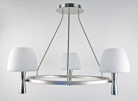 LANDLITE MW-5362/3C-S-C matt ezüst lámpa E14 foglalattal, max 60W