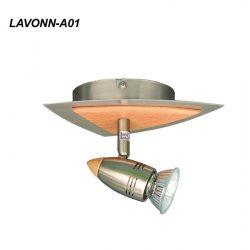 LANDLITE LAVONN-A01 spotlámpa 1xGU10 50W 230V (matt króm / faborítás)