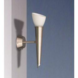 LANDLITE EDAN modern fali lámpa 1xG9 40W 230V (matt króm / fehér üveg)