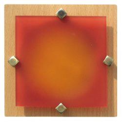 LANDLITE MELIA 16.5 cm 1xG9 40W 230V fa színes üveggel, fali / mennyezeti lampa