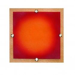 LANDLITE MELIA 23 cm 1xG9 40W 230V  Fali / mennyezeti lámpa - fa/színes üveg