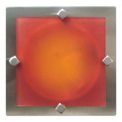 LANDLITE MELIA 16.5 cm 1xG9 40W 230V  nikkel színes üveggel, fali/mennyezeti lampa