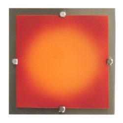 LANDLITE MELIA 23 cm 1xG9 40W 230V  Fali / mennyezeti lámpa - nikkel/színes üveg