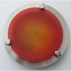 LANDLITE MELISSA D16 modern fali / mennyezeti lámpa 1xG9 40W 230V (nikkel / piros üveg)