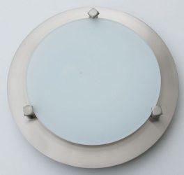 LANDLITE MELISSA D23 modern fali / mennyezeti lámpa 1xG9 40W 230V (nikkel / fehér üveg)