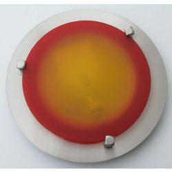 LANDLITE MELISSA D23 modern fali / mennyezeti lámpa 1xG9 40W 230V (nikkel / piros üveg)