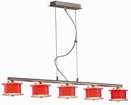 LANDLITE REFORMO P6026/5L piros, 5XG9 60W 230V, függeszték