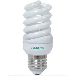 LANDLITE Energiatakarékos, E27, 15W, 780lm, 2700K, spirál formájú fényforrás (ELH/M-15W)