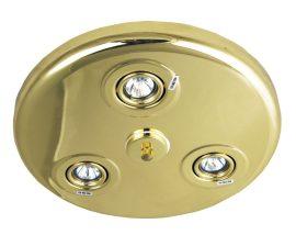 LANDLITE CLR110-3 halogén mennyezeti lámpa 3xMR11, 12V, 20W arany színben